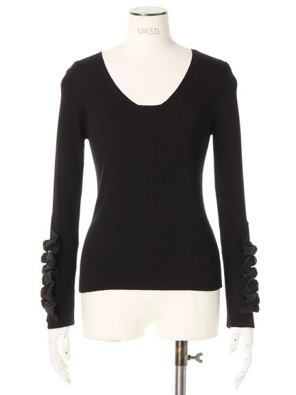 RIBBON L/SLEEVE KNIT 02_M09
