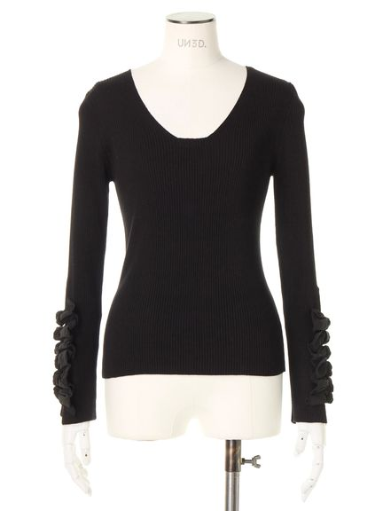RIBBON L/SLEEVE KNIT 03_020